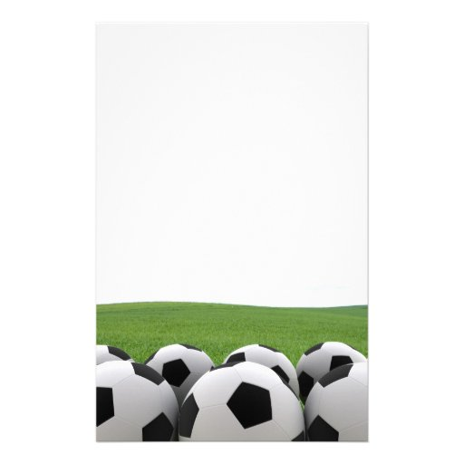Soccer Balls stationary Personalized Stationery
