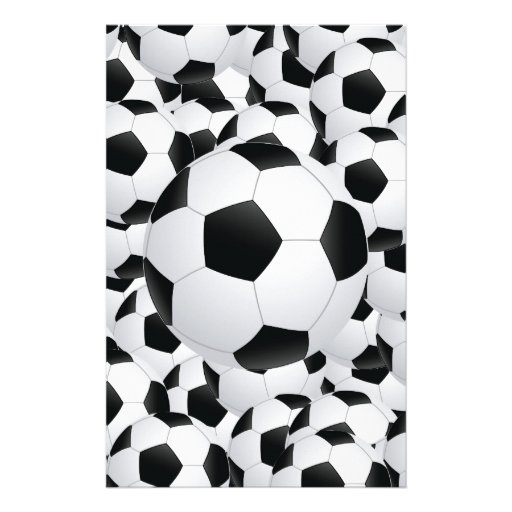 soccer balls personalized stationery