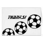Soccer Balls-Thanks! Stationery Note Card