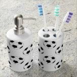 Soccer balls Toothbrush holder & Soap Dispenser