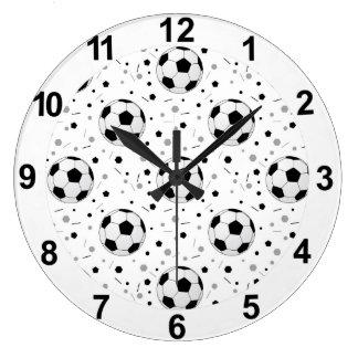 Soccer balls wall clocks