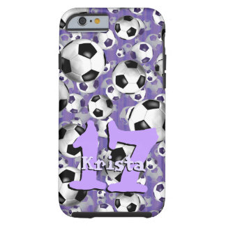 Soccer Ballz! women's soccer ball pattern Tough iPhone 6 Case
