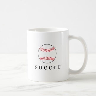 Soccer Baseball Funny Hilarious Sports T-Shirt Coffee Mug