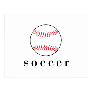 Soccer Baseball Funny Hilarious Sports T-Shirt Postcard