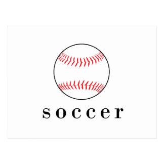 Soccer Baseball Funny Hilarious Sports T-Shirt Postcard