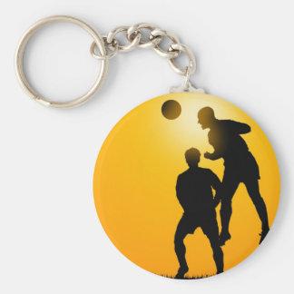 Soccer Basic Round Button Keychain