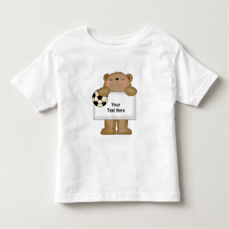 Soccer Bear (Customizable) Toddler T-shirt