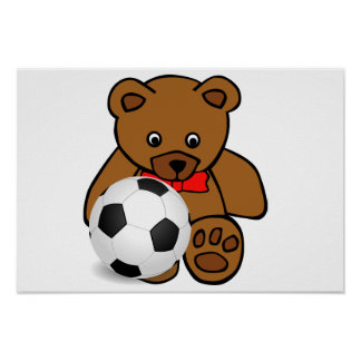 """""""Soccer Bear"""" Poster Poster"""