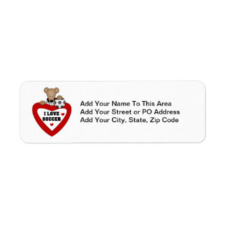 Soccer Bear T-shirts and Gifts Label