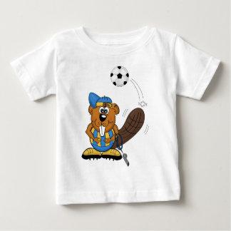 soccer beaver baby T-Shirt