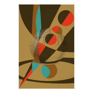 Soccer Becomes Art Soccer Ball Abstract Poster
