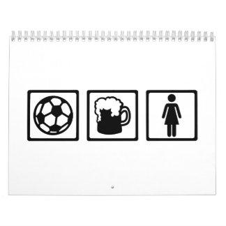 Soccer beer women wall calendars