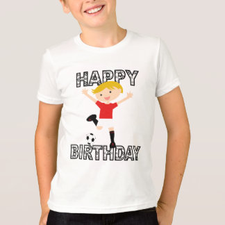 Soccer Birthday Boy 1 Red and White T-Shirt