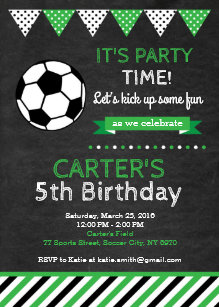 Soccer Birthday Invitations Zazzle