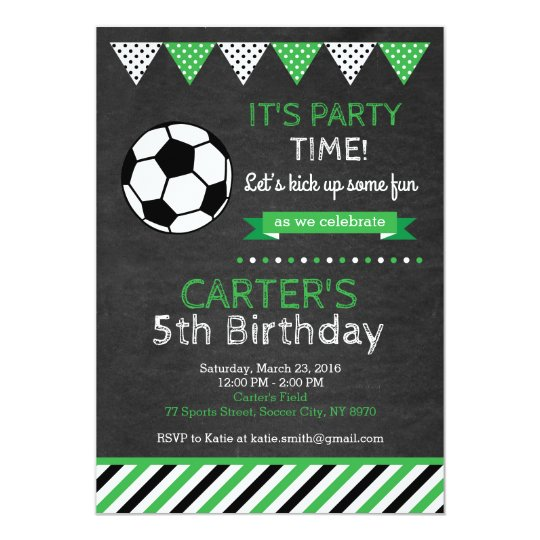 Soccer Birthday Invitation Zazzle Com