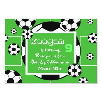 "Soccer Birthday Invitation 3.5"" X 5"" Invitation Card"