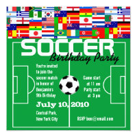 Soccer Party Invitations Announcements Zazzle