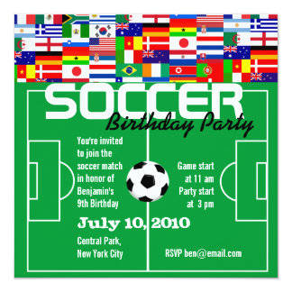 Soccer Birthday Party Invitation