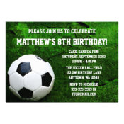 Soccer Birthday Party Invitations