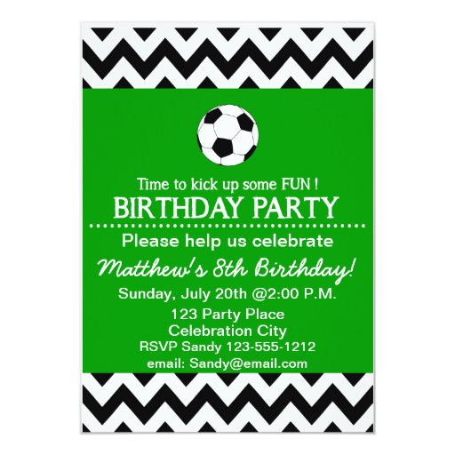 Soccer Party Invitations and get inspiration to create nice invitation ideas