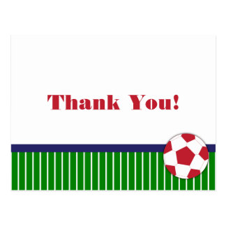 Soccer Birthday Party Thank You Card Postcard