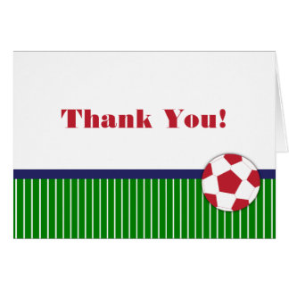 Soccer Birthday Party Thank You Notes