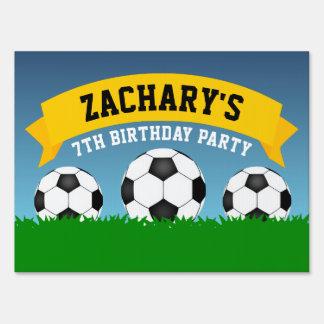 Soccer Birthday Party Yard Sign