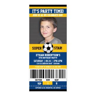 Soccer Birthday Photo Template Card
