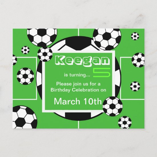 Soccer Birthday Postcard