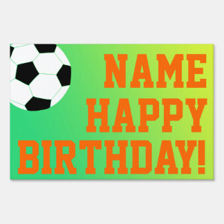 Soccer Birthday Sign