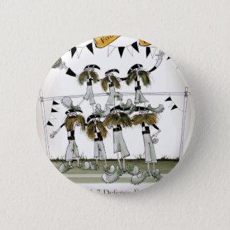 soccer black + white kit defenders pinback button