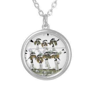 soccer black + white kit defenders silver plated necklace