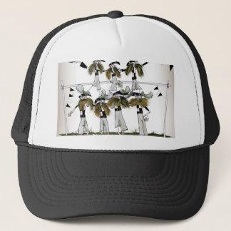 soccer black + white kit defenders trucker hat
