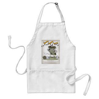 soccer black + white kit goal keeper adult apron