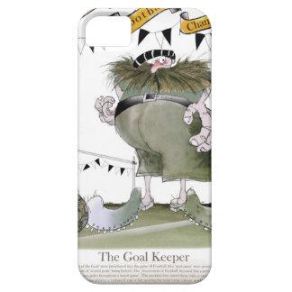 soccer black + white kit goal keeper iPhone SE/5/5s case