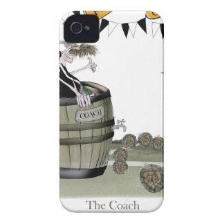 soccer black + white team coaching iPhone 4 case