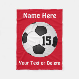 Soccer Blanket with NAME, NUMBER and TEXT