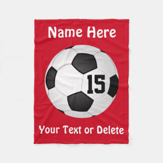 Soccer Blanket with NAME, NUMBER and TEXT Fleece Blanket