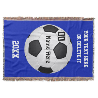 Soccer Blankets and Change COLORS and 4 Text Boxes