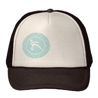 Soccer Blue Circles Trucker Hat