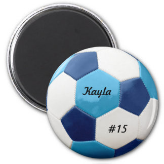 Soccer Blues 2 Inch Round Magnet
