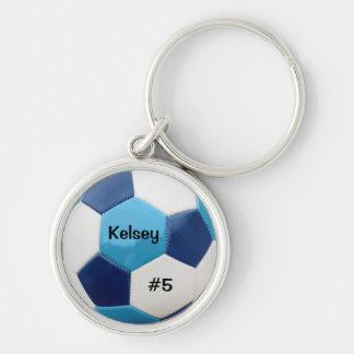Soccer Blues Keyring
