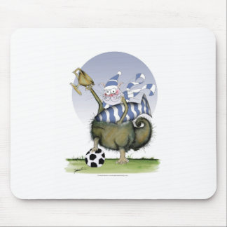 soccer blues kitty mouse pad