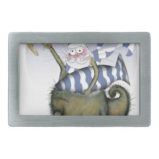 soccer blues kitty rectangular belt buckle