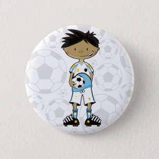 Soccer Boy Badge Pinback Button