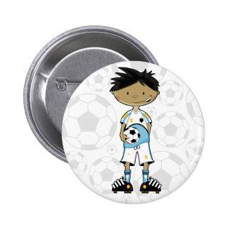 Soccer Boy Badge Pinback Button