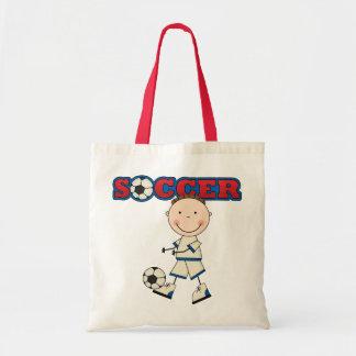 Soccer Boy Tote Bags
