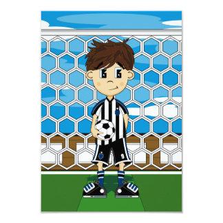 "Soccer Boy Card 3.5"" X 5"" Invitation Card"