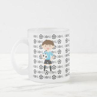 Soccer Boy Goal 1 Frosted Mug