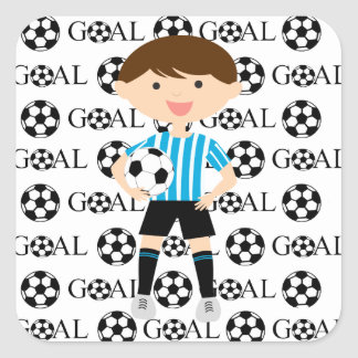 Soccer Boy Goal 1 Sticker